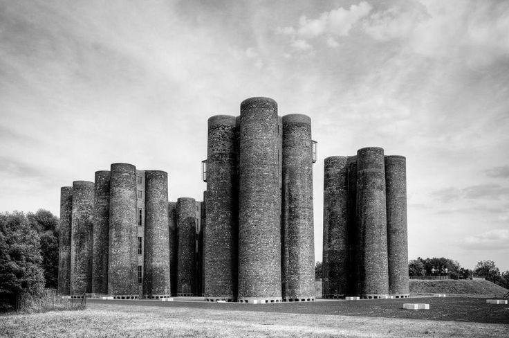 Curvaceous Brutalist Architecture.