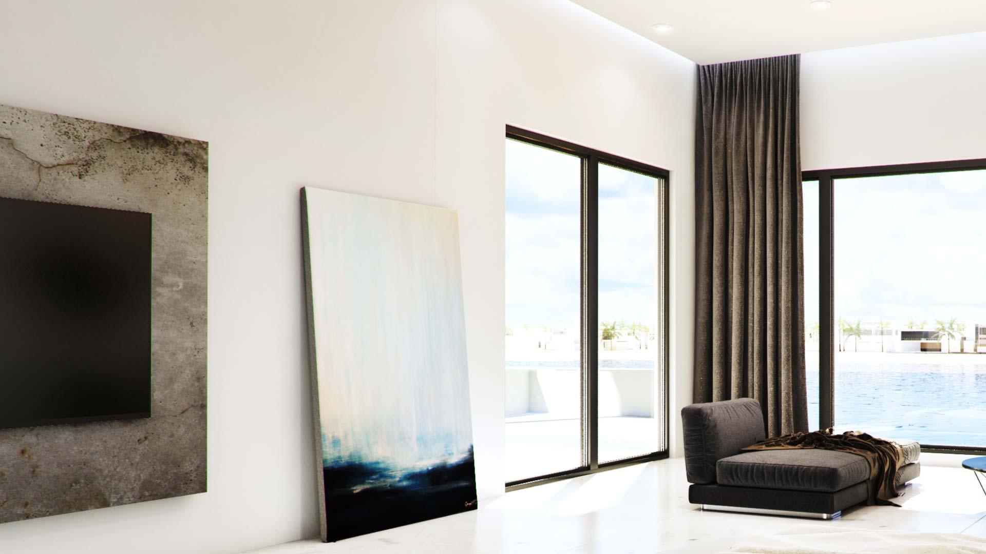 Idea 1860176: Modern, Beach VIlla Interior by Viscato in Kuwait