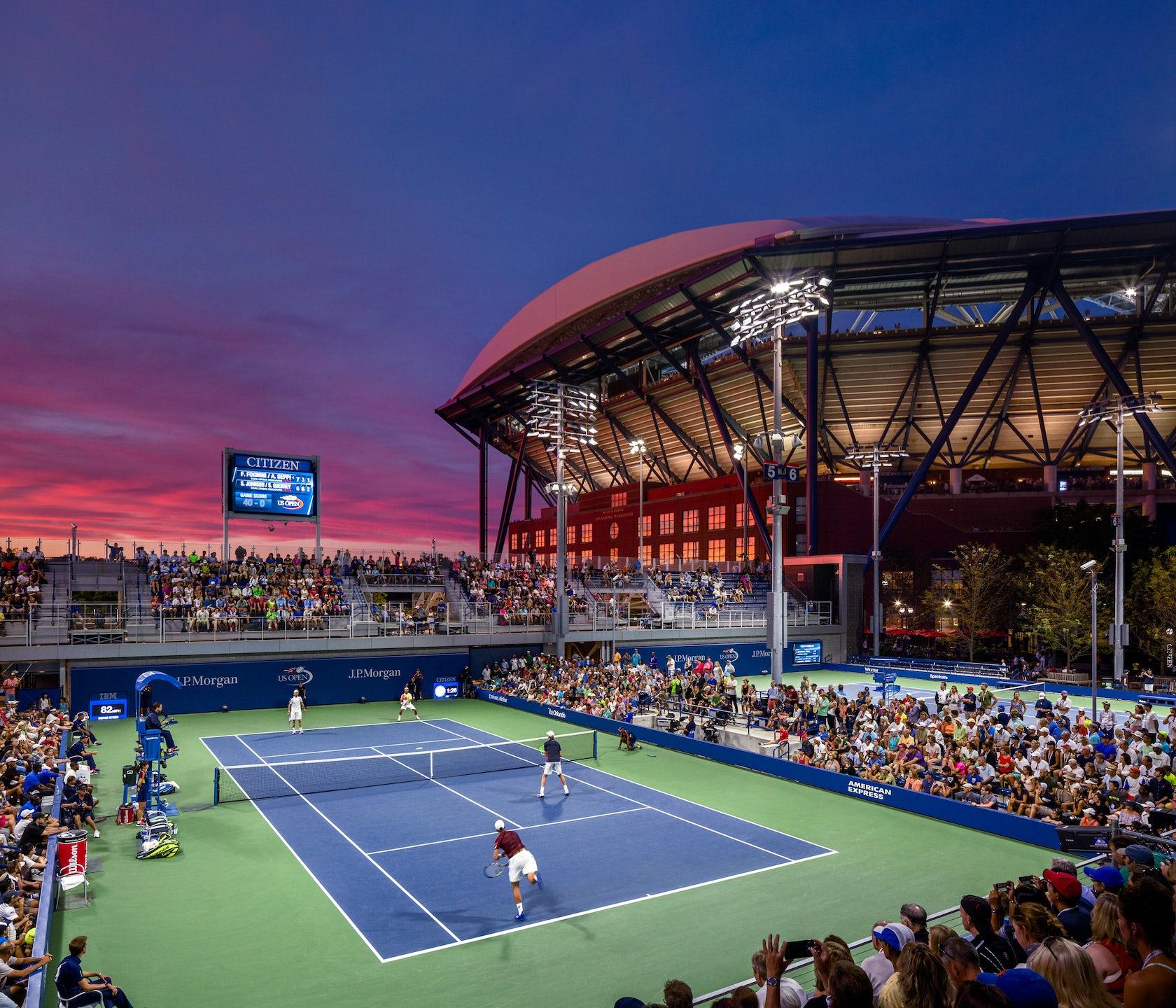 Usta National Tennis Center Master Plan Architizer