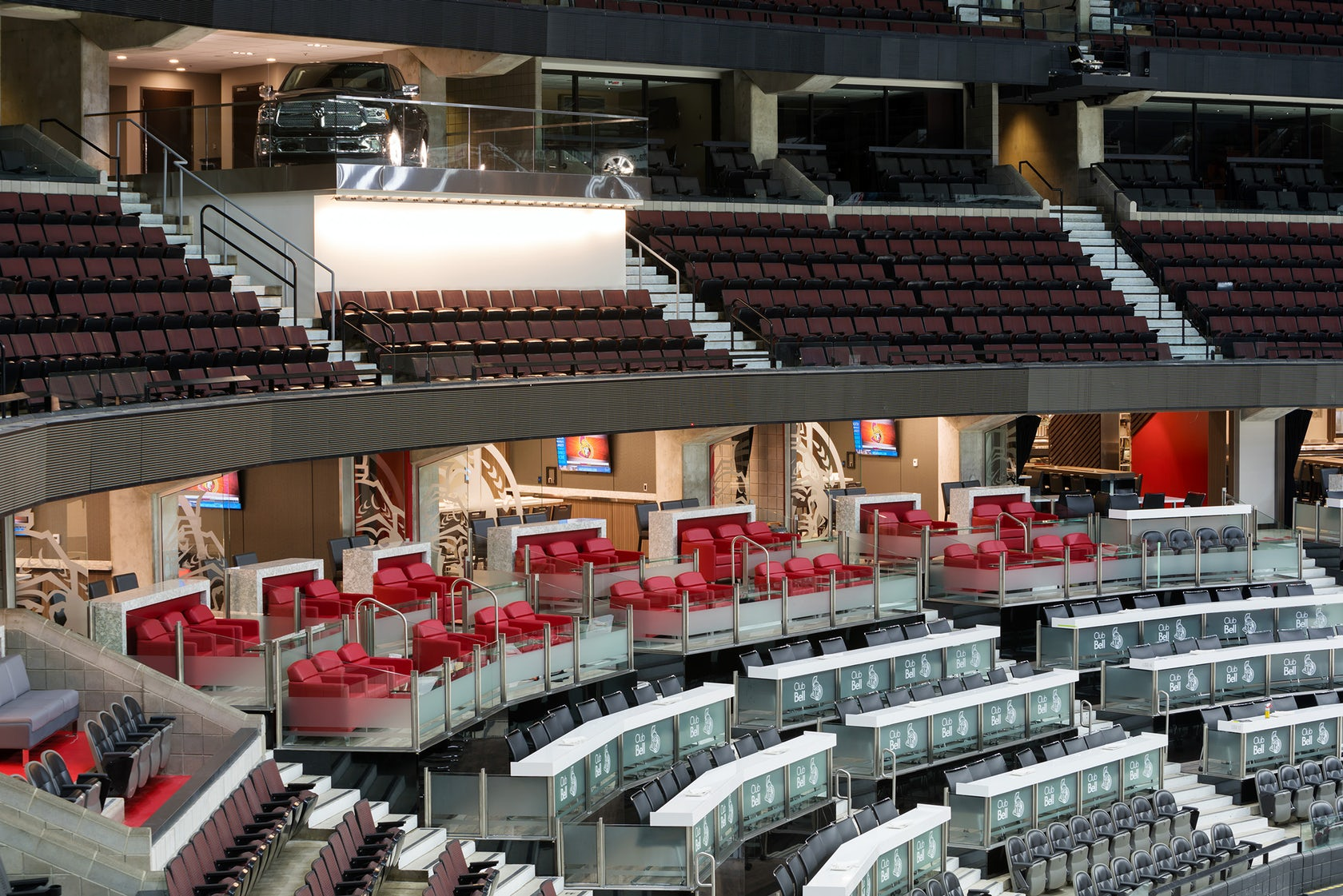 Club Bell At Canadian Tire Centre Architizer
