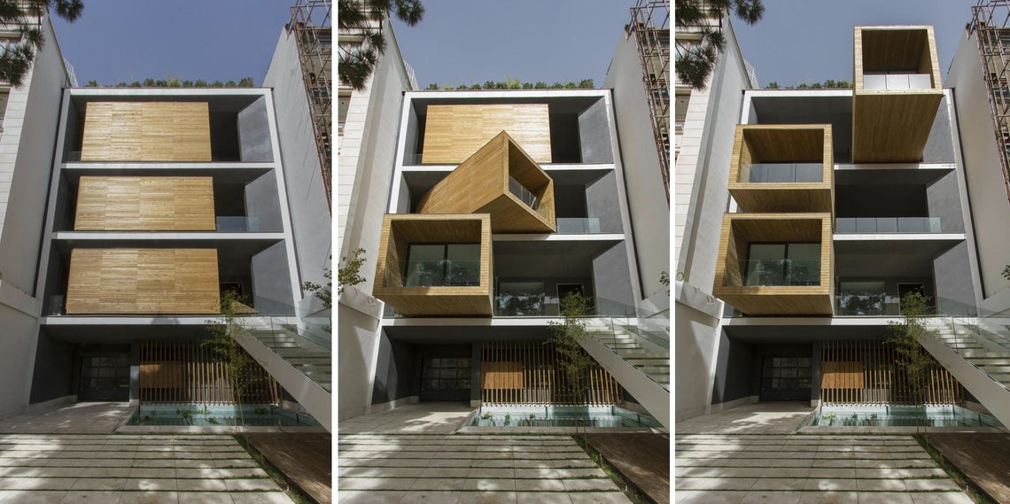 Before and After: This Dynamic Iranian House Has Rooms That Move at the Touch of a Button