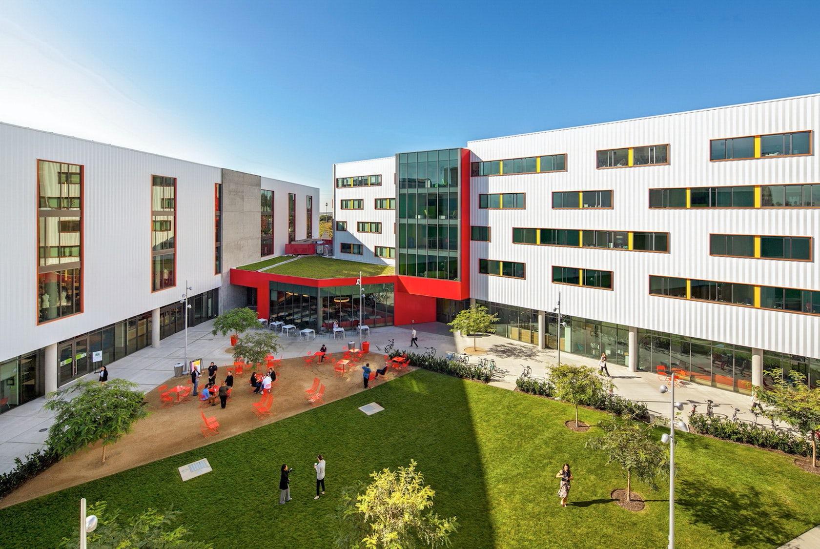otis college campus virtual award tour expansion architizer winners lets everyone visit entrance university building california