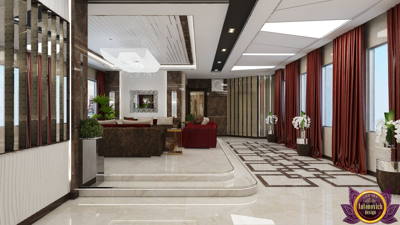 Kitchen Design Usa By Katrina Antonovich: Modern Living Room Interior Of Katrina Antonovich