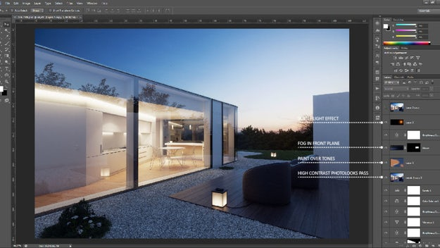 The Art of Rendering: Photoshop Cheat Sheet - Architizer Journal