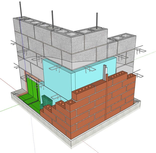 Common Wall Construction : Free common construction details modeled in sketchup