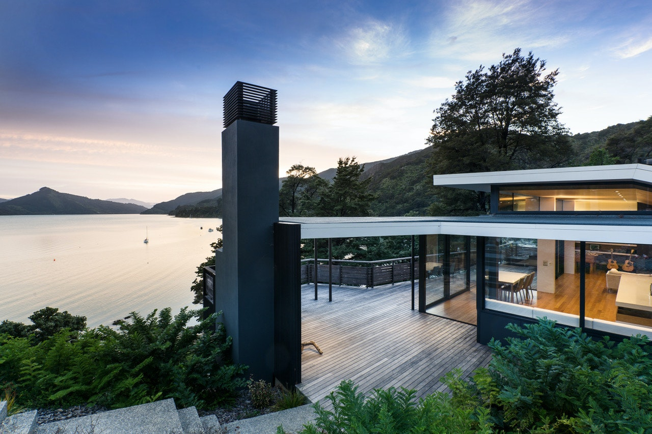 Moetapu Bay House By Parsonson Architects Ltd., Moetapu Bay, New Zealand