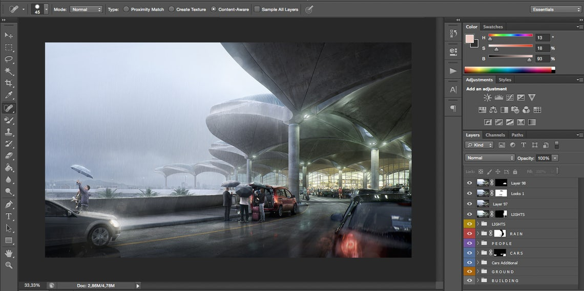 How to Create an Atmospheric, Rain-Soaked Rendering
