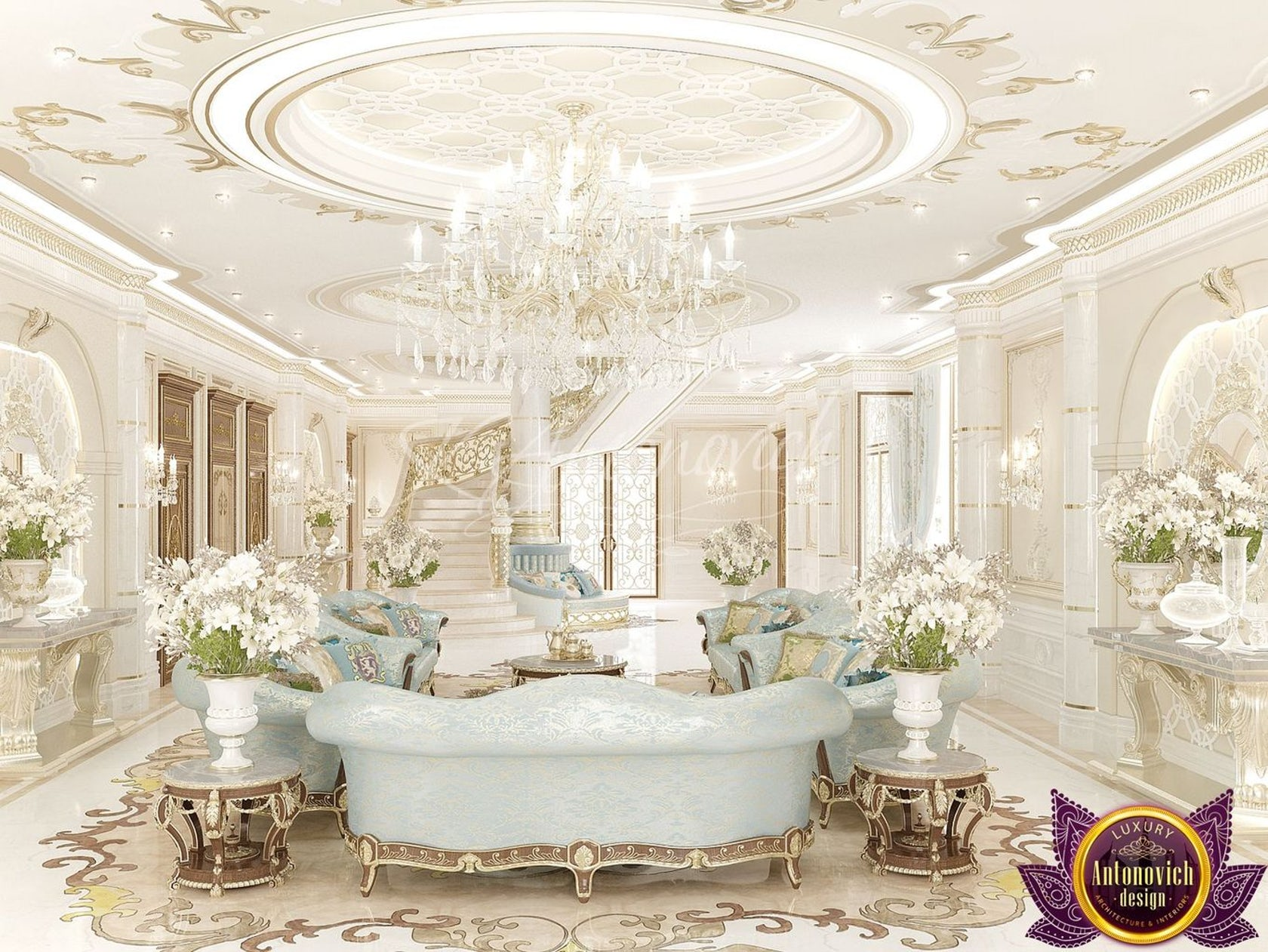 House Interior Design Of Luxury Antonovich Design Architizer
