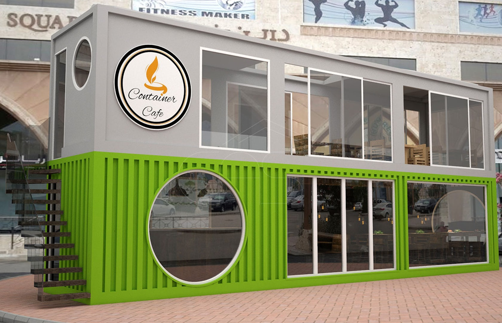 Cafe Container Design On Architizer