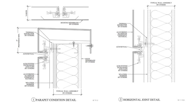 Aluminum Cladding Details : Metal cladding connection details and material