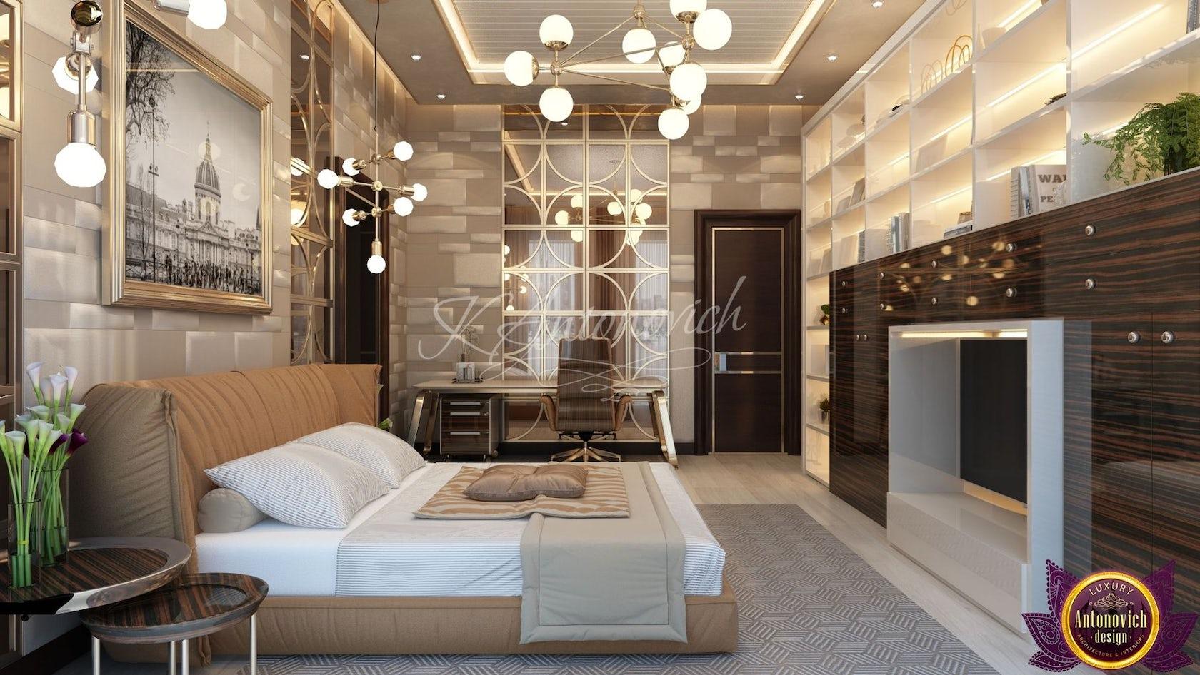 Bedroom interior in the Modern style of Katrina Antonovich on Architizer