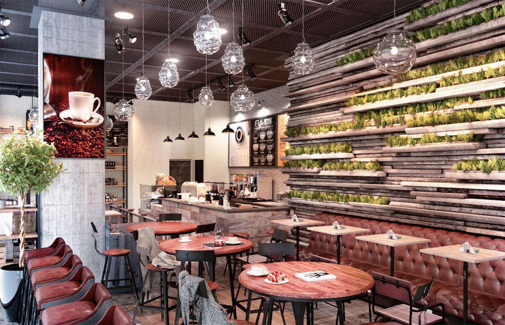 INDUSTRIAL RUSTIC CAFÉ INTERIOR DESIGN - Architizer
