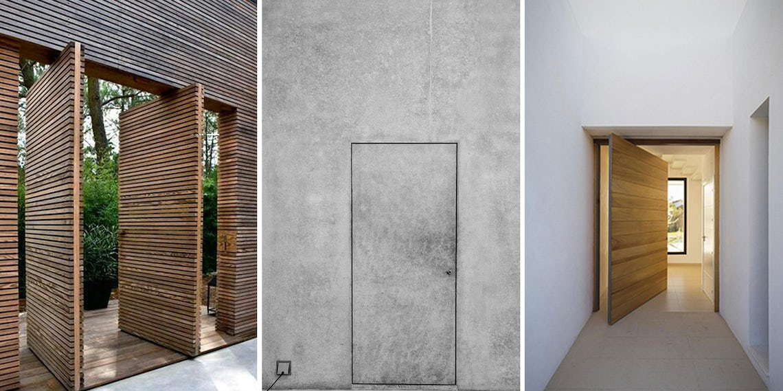 How To Detail A Perfectly Seamless Door Architizer Journal - Curtain-door-by-matharoo-associates