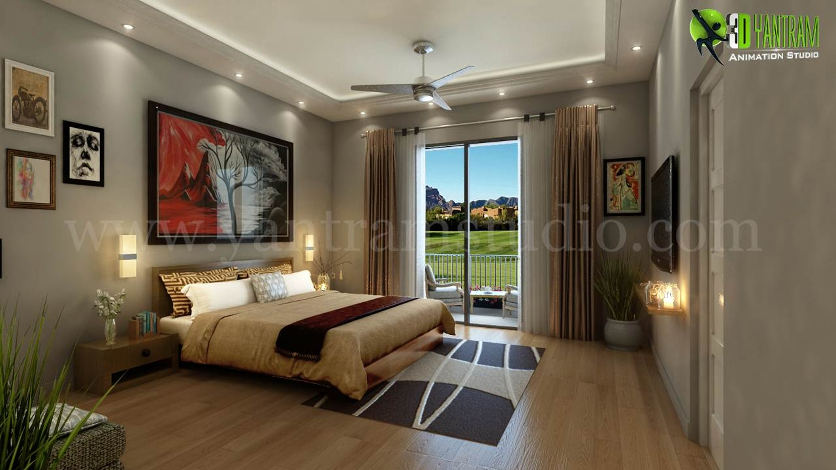For Relaxing 3d Modern Bedroom Design View By Interior Design Firms Architizer
