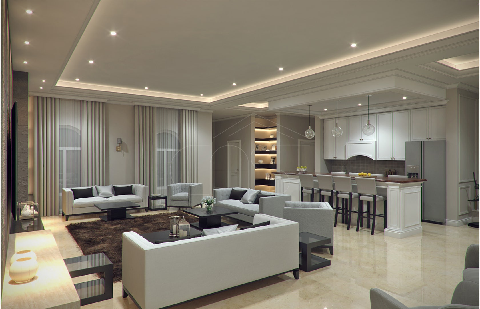 Modern classic villa interior design architizer - Interior design living room ideas modern ...