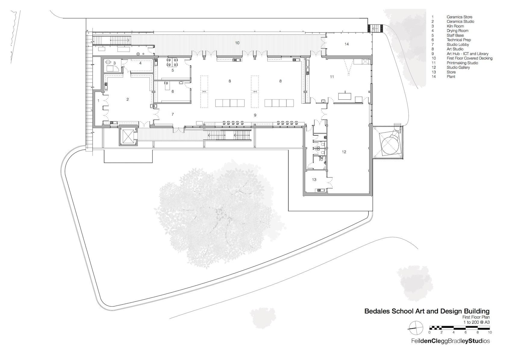 bedales plan floor building architizer