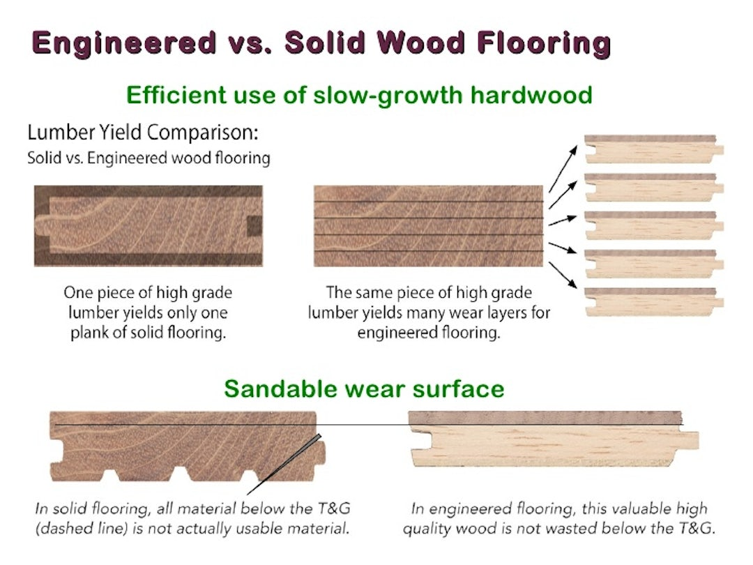 Solid wood floors versus engineered wood - Which Is Better Engineered Vs Solid Hardwood Flooring Architizer