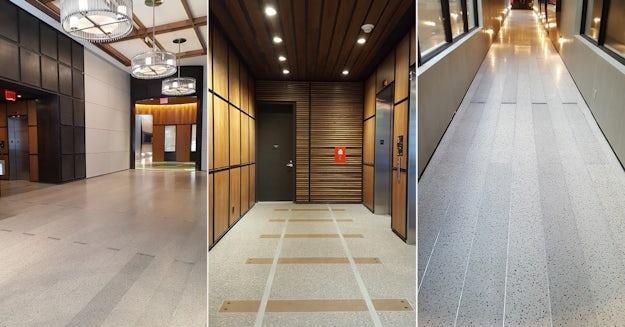Installed Terrazzo Flooring At 507 West Chelsea Courtesy Ismael Leyva Architects