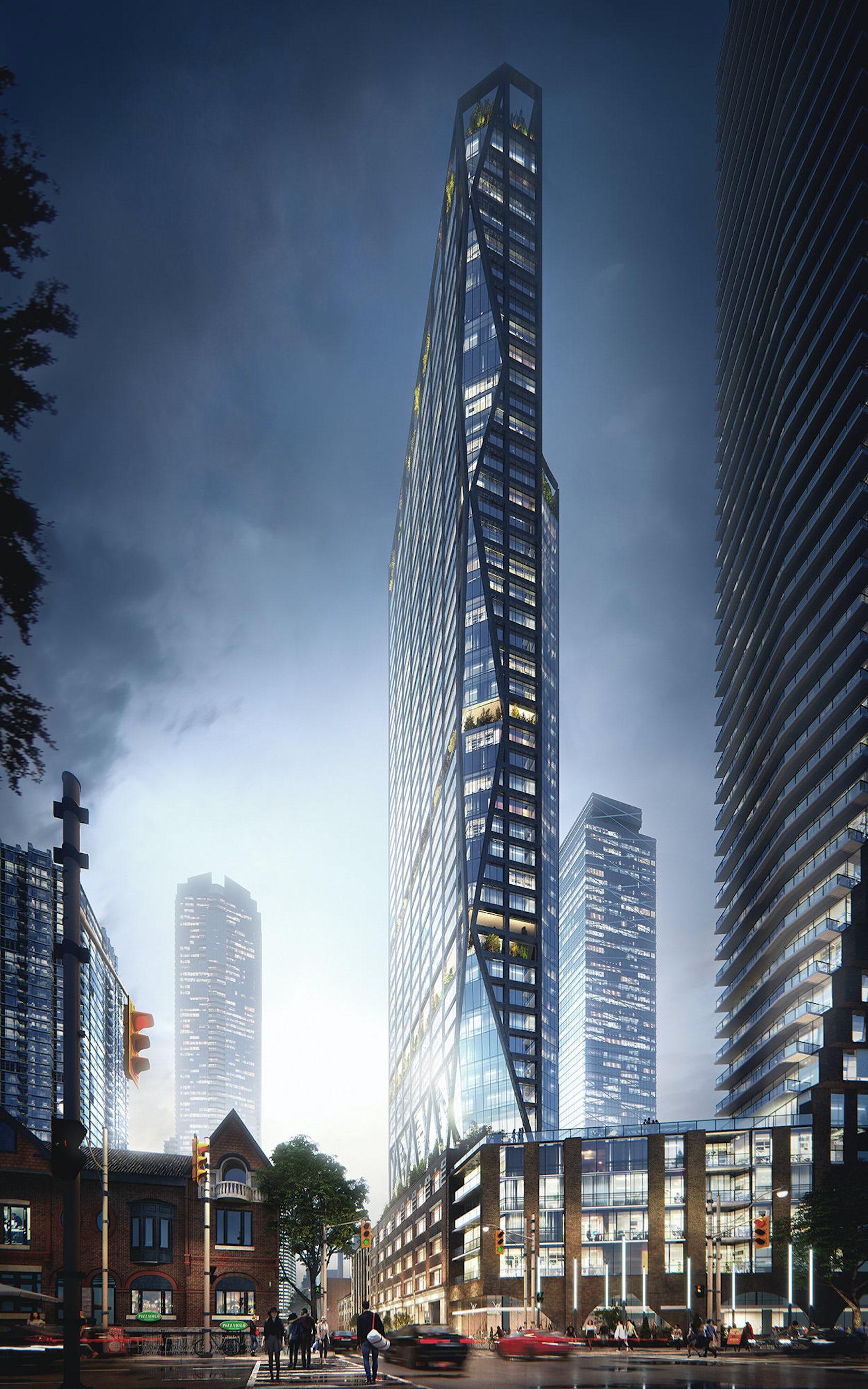 Architectural Visualization of Skyscraper Project in ...