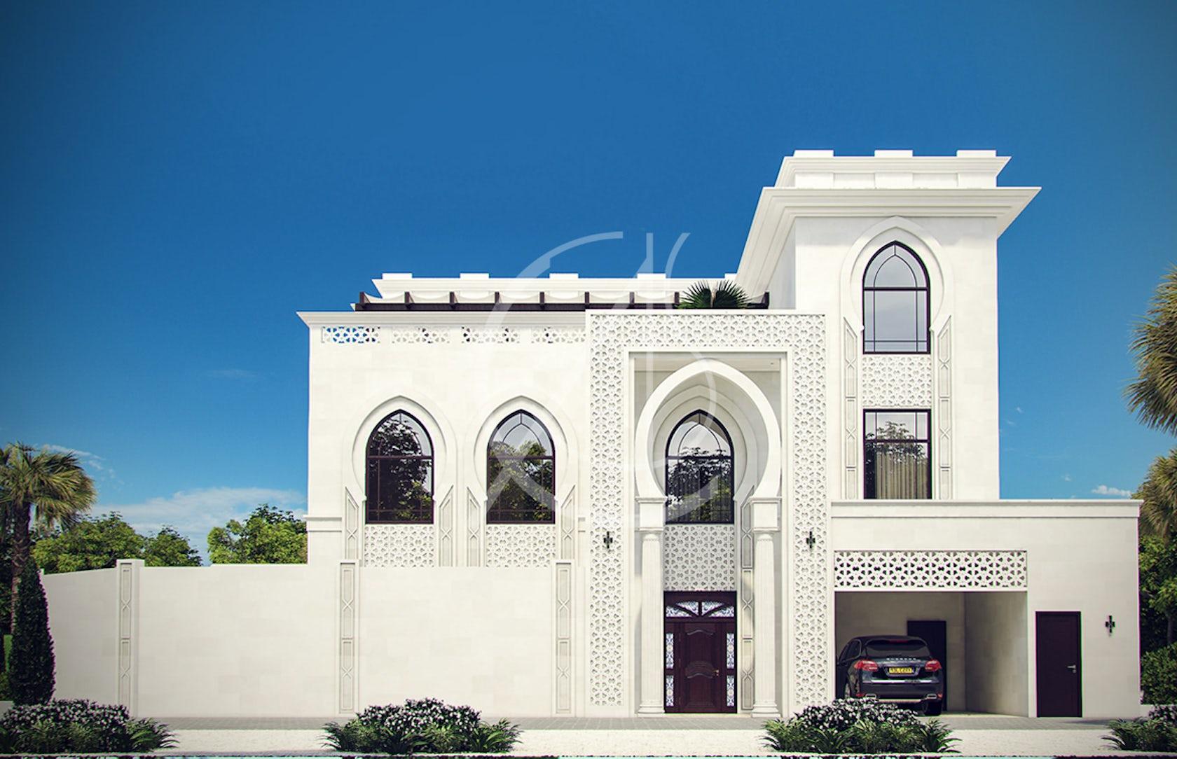 White modern islamic villa exterior design on architizer