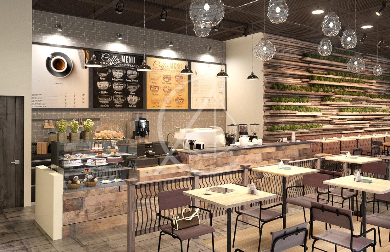 Industrial Rustic Cafe Interior Design By Comelite Architecture Structure And Interior Design Architizer
