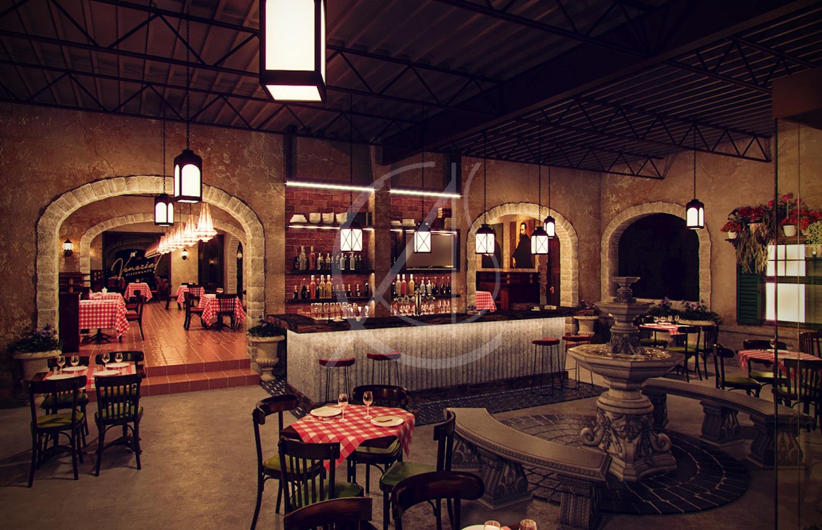 Venezia Italian Restaurant Interior Design