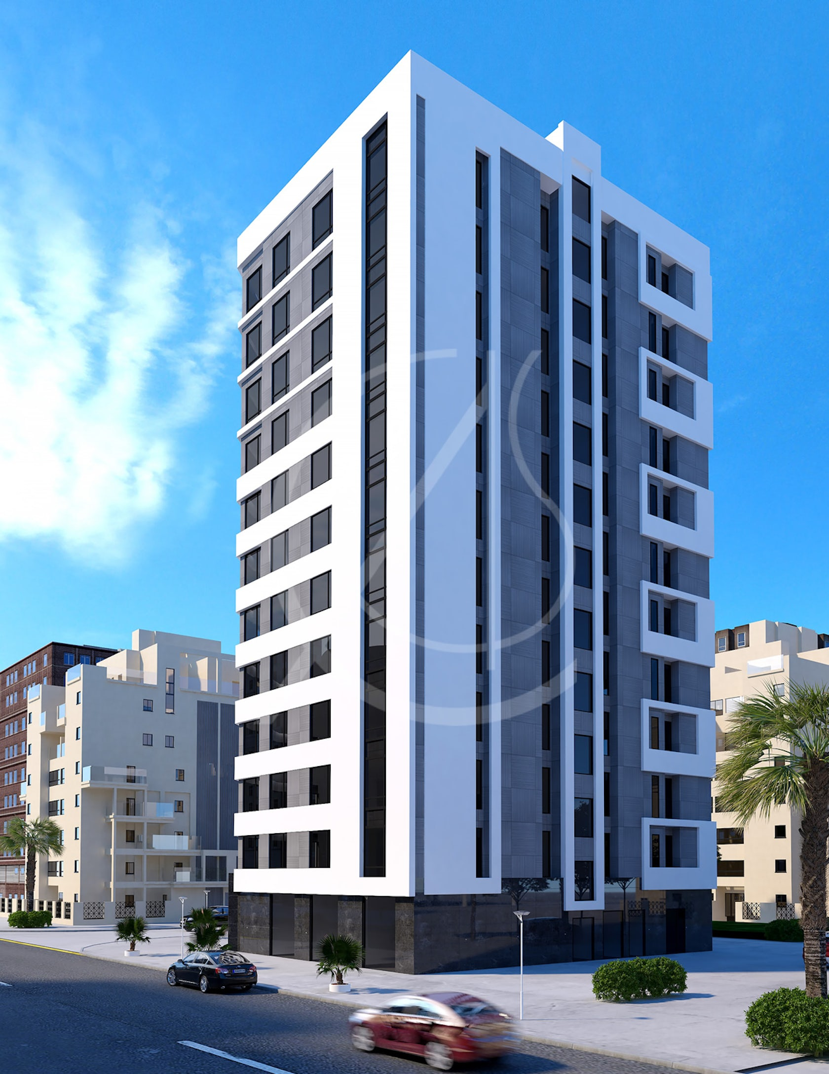 12 Story Modern Apartment Exterior Design By Comelite Architecture Structure And Interior Design Architizer