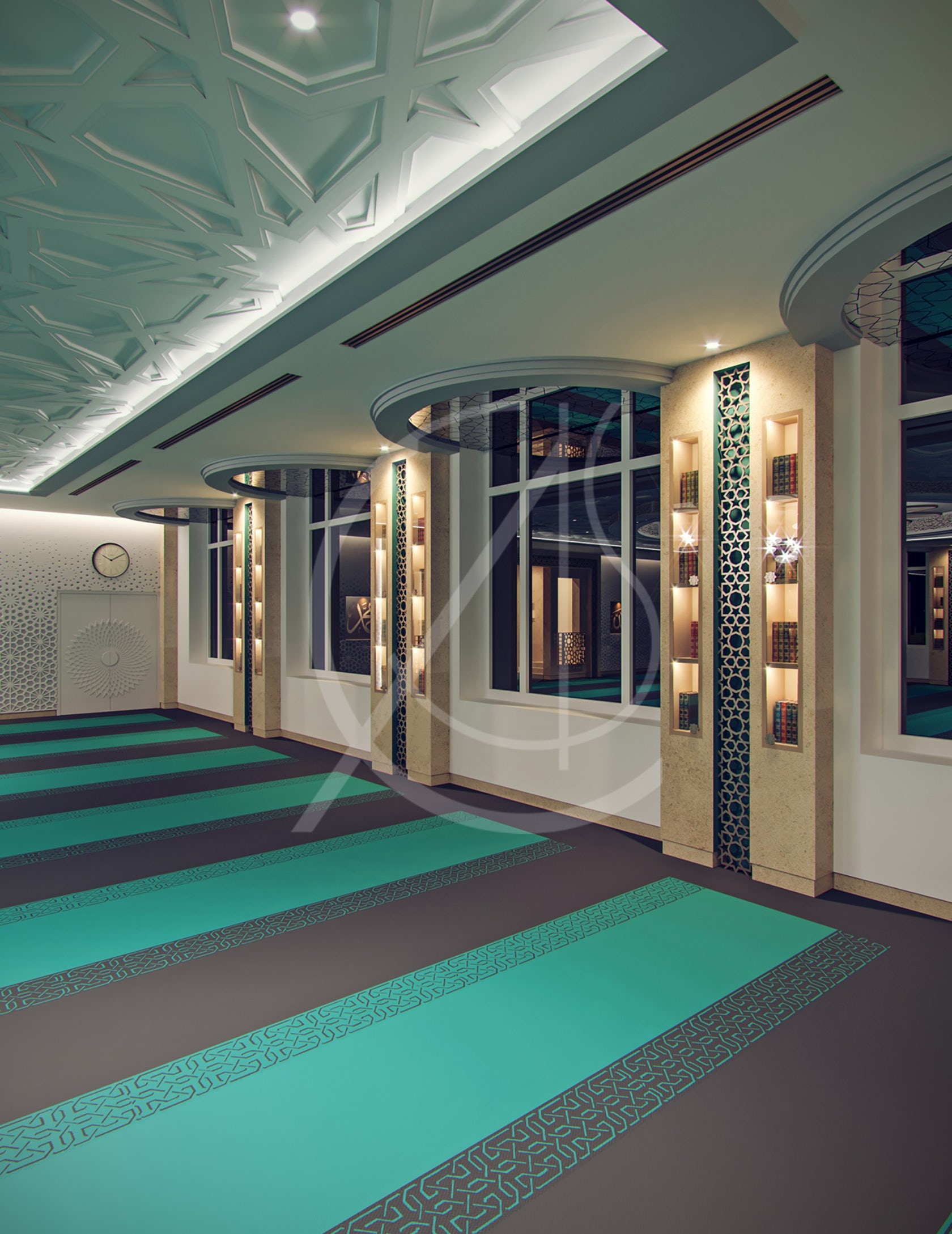 Leicester modern islamic mosque interior design architizer - What is contemporary style ...