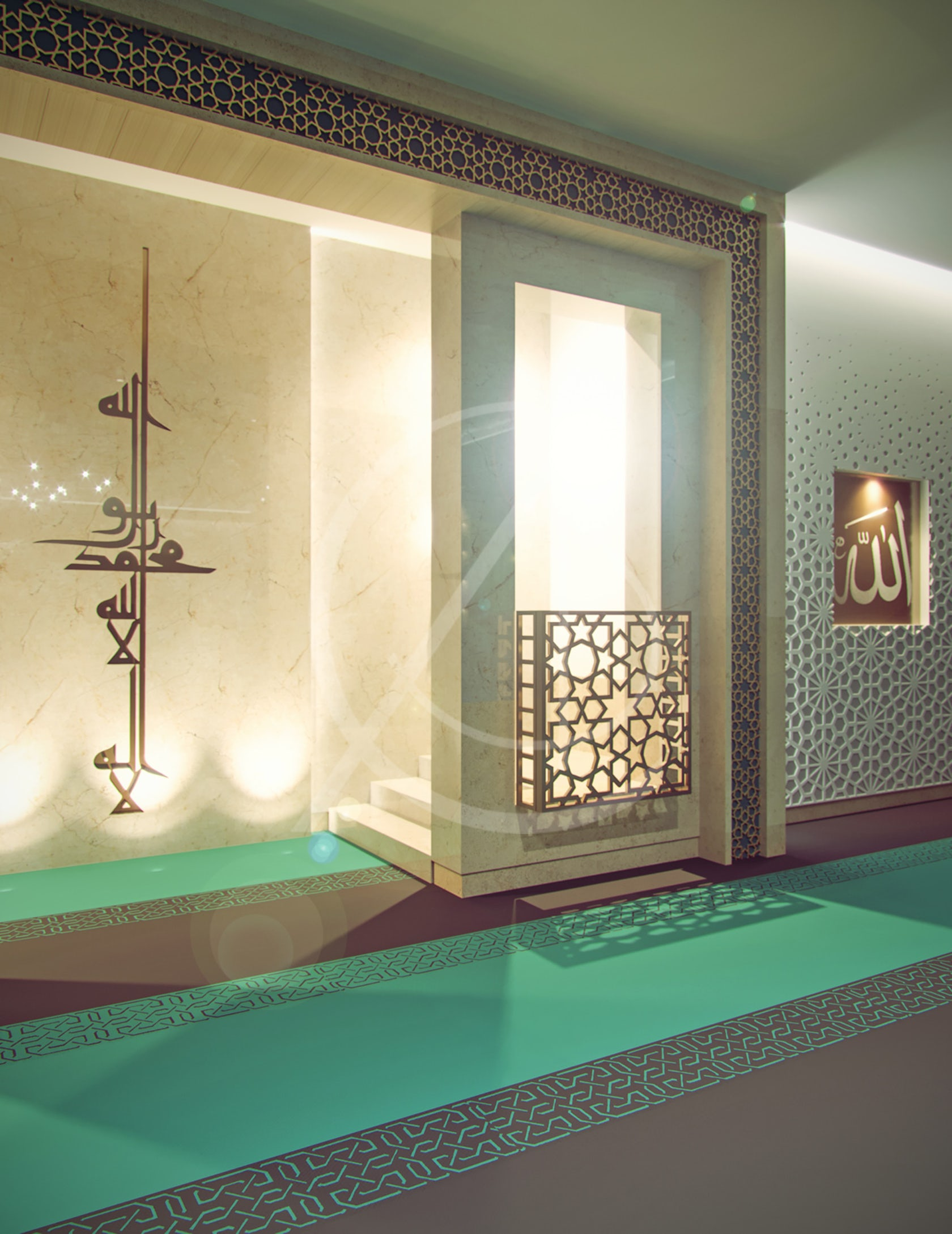 Room Construction Design: Leicester Modern Islamic Mosque Interior Design