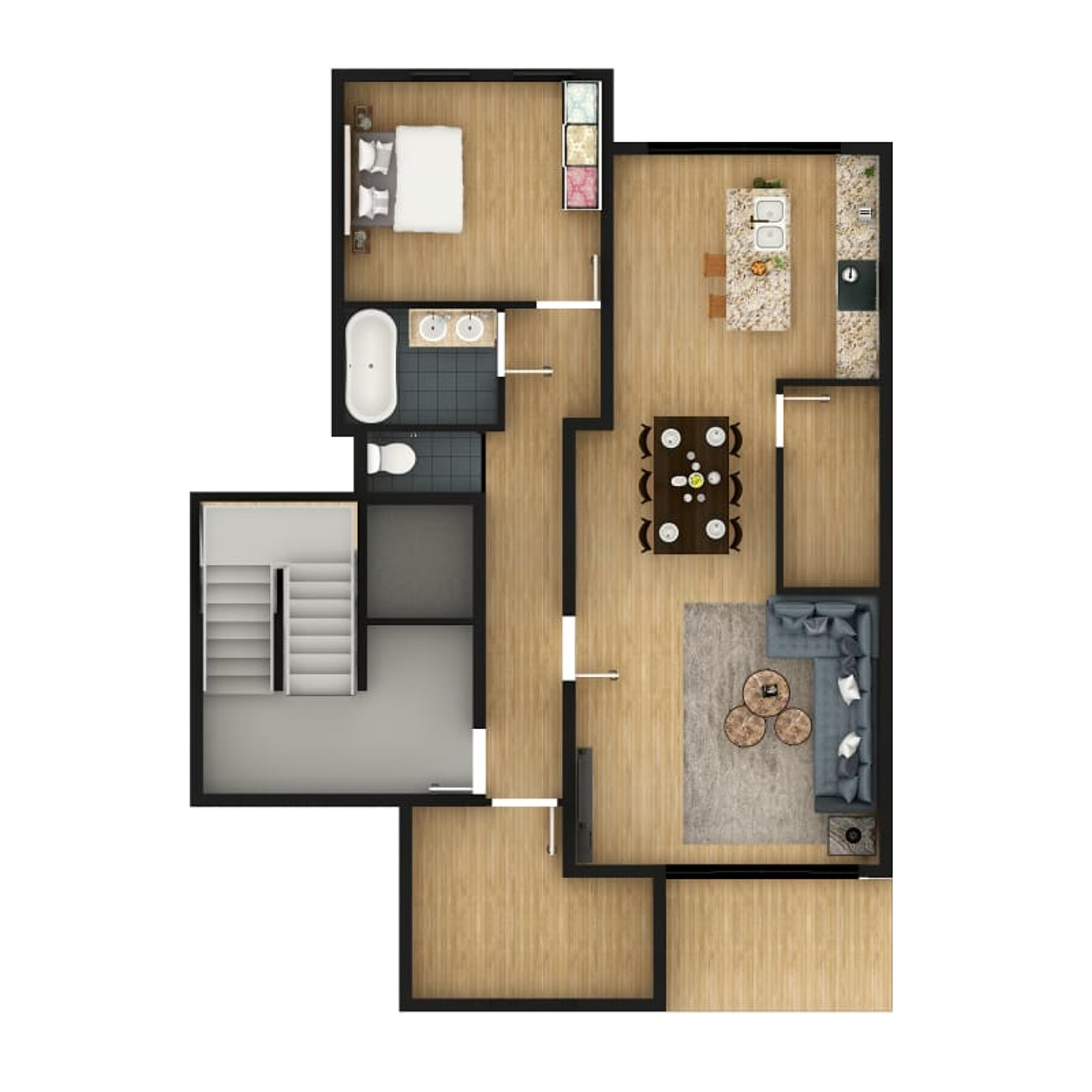 2d Floor Plan Design Rendering Using Photoshop With Custom Texture Furniture By Jmsd Consultant Architectural Visualization Company Architizer