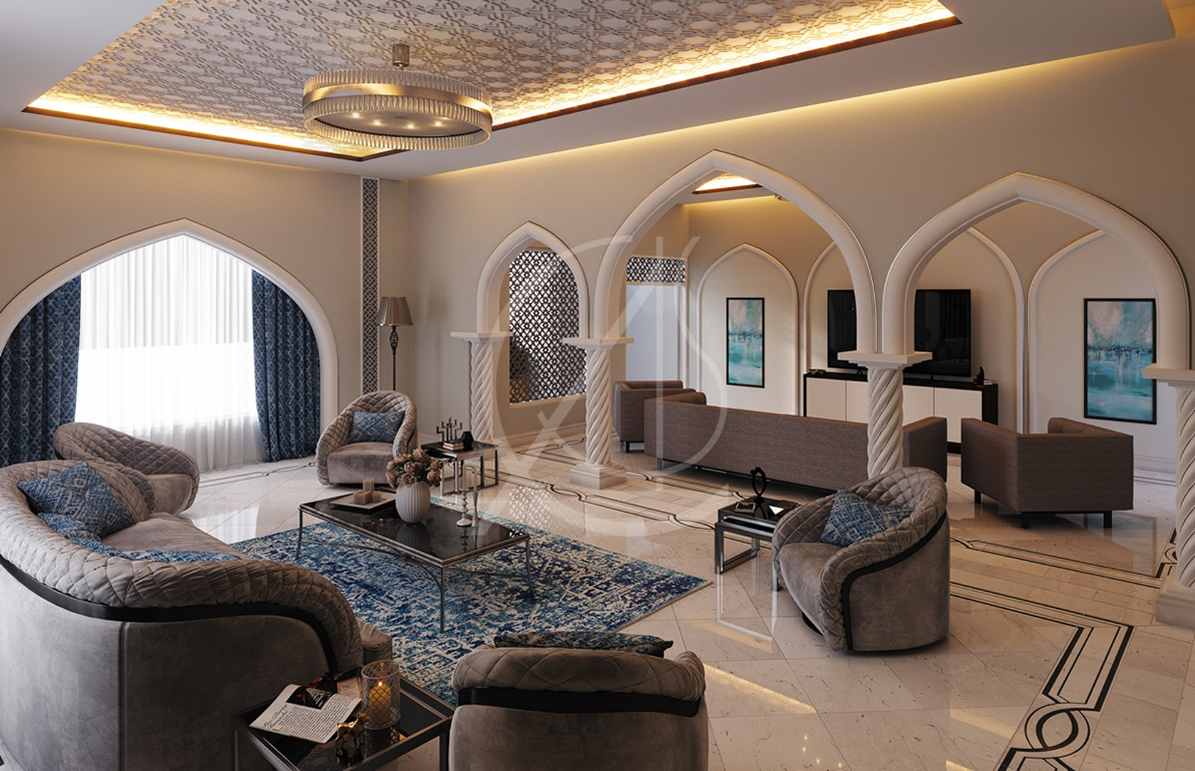 Modern islamic home interior design architizer - Modern house interior design ...