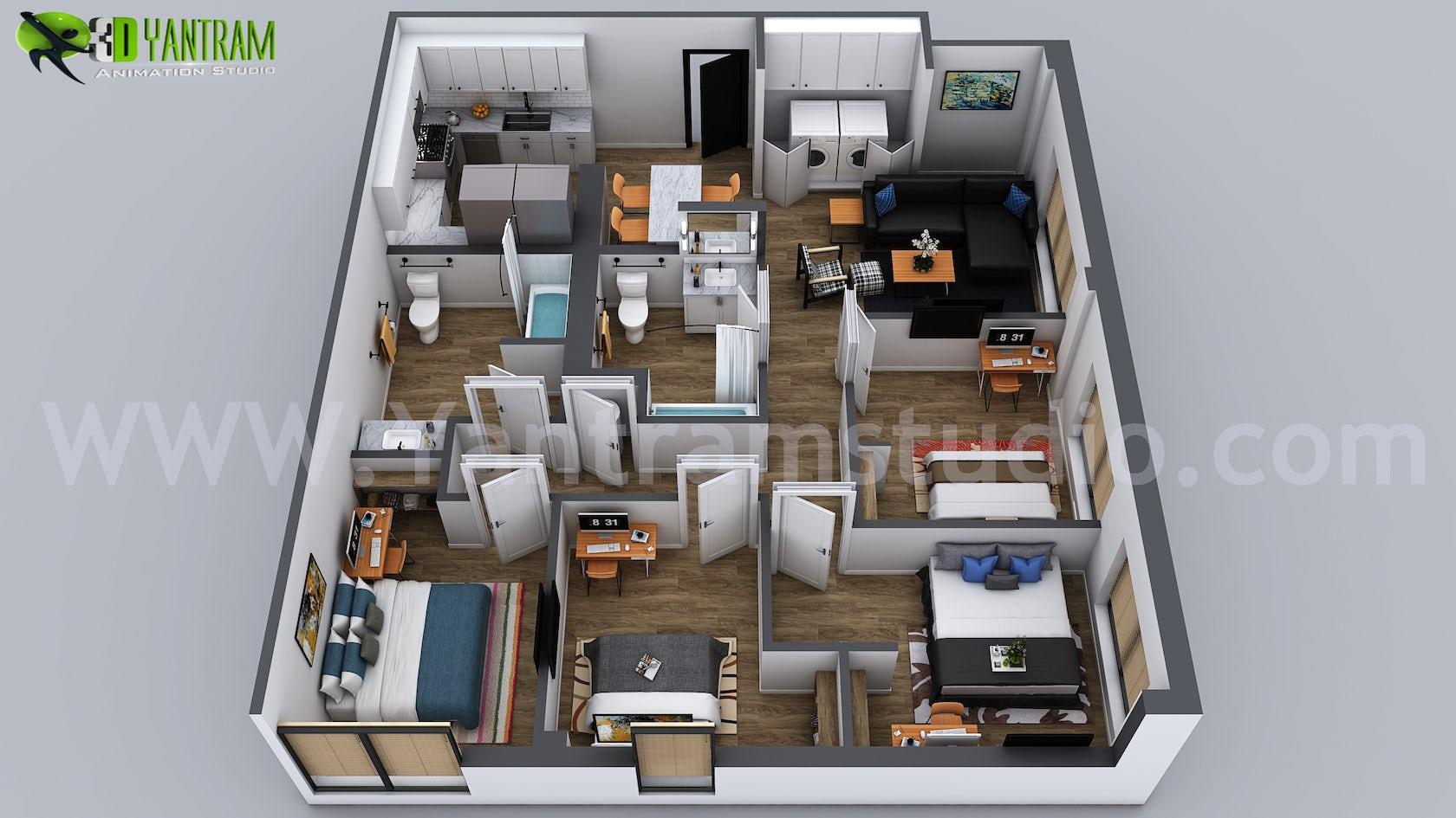 Chiropractic Office Floor Plans 60 Contemporary Designs: 3D Home Floor Plan Designs By Yantram Floor Plan Designer