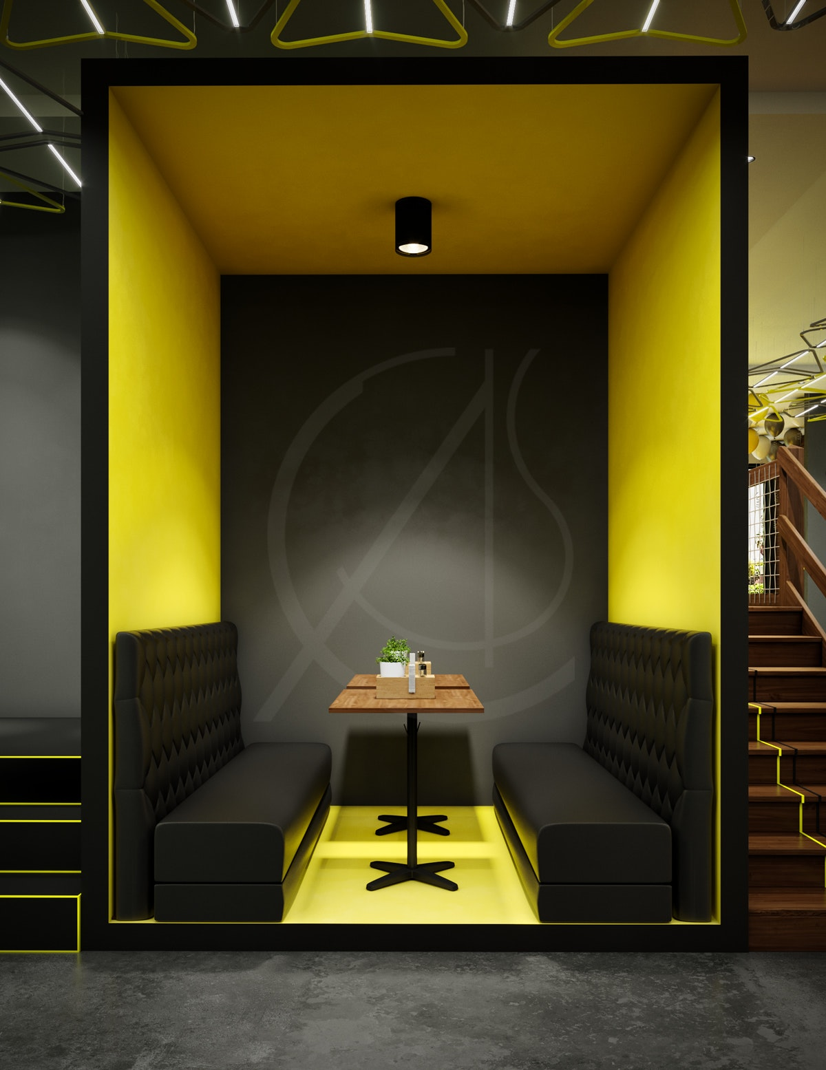 Modern Fast Food Restaurant Interior Design By Comelite Architecture Structure And Interior Design Architizer