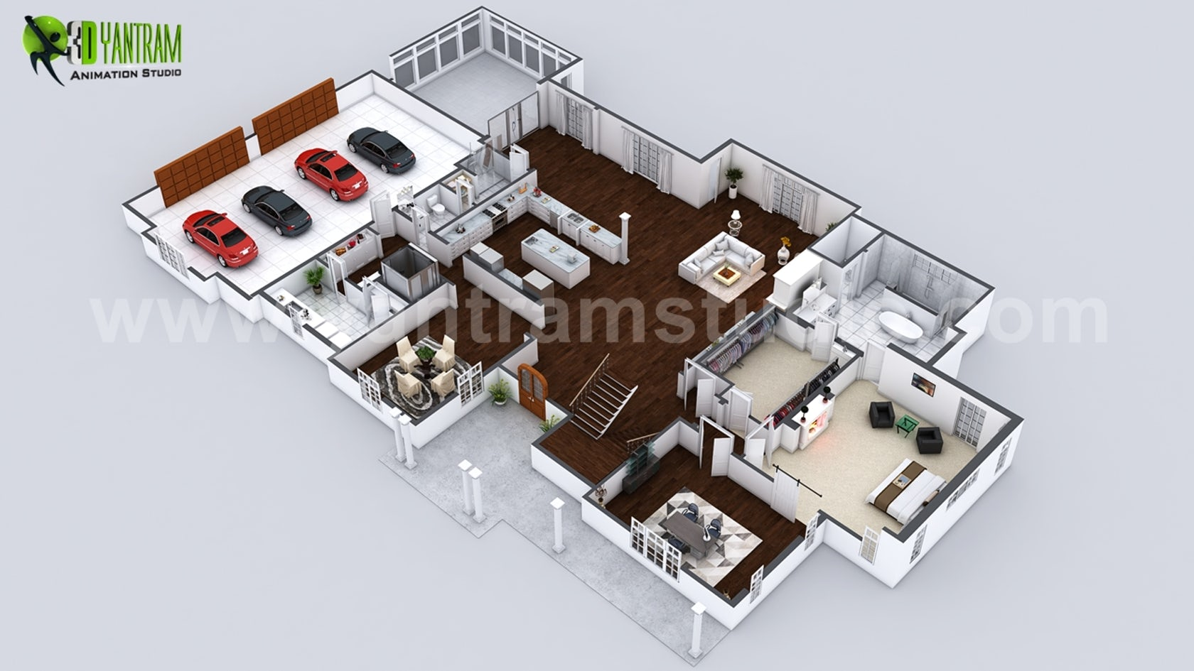 Beautiful Modern 3D Home Virtual Floor Plan Developed By