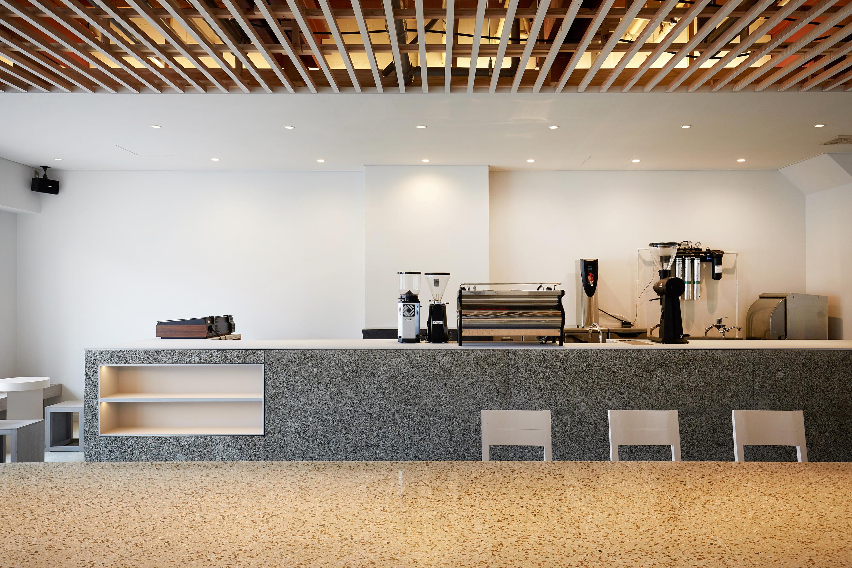 Interior view of café