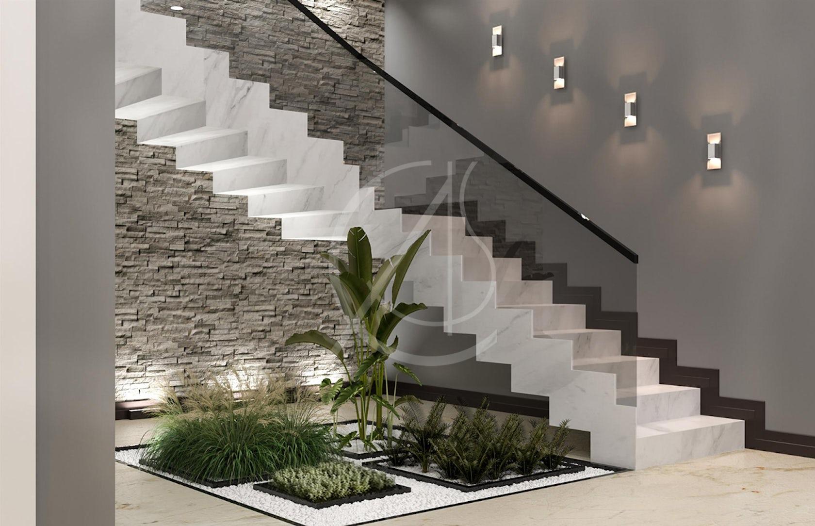 Modern Luxury Indoor Garden Design by Comelite Architecture