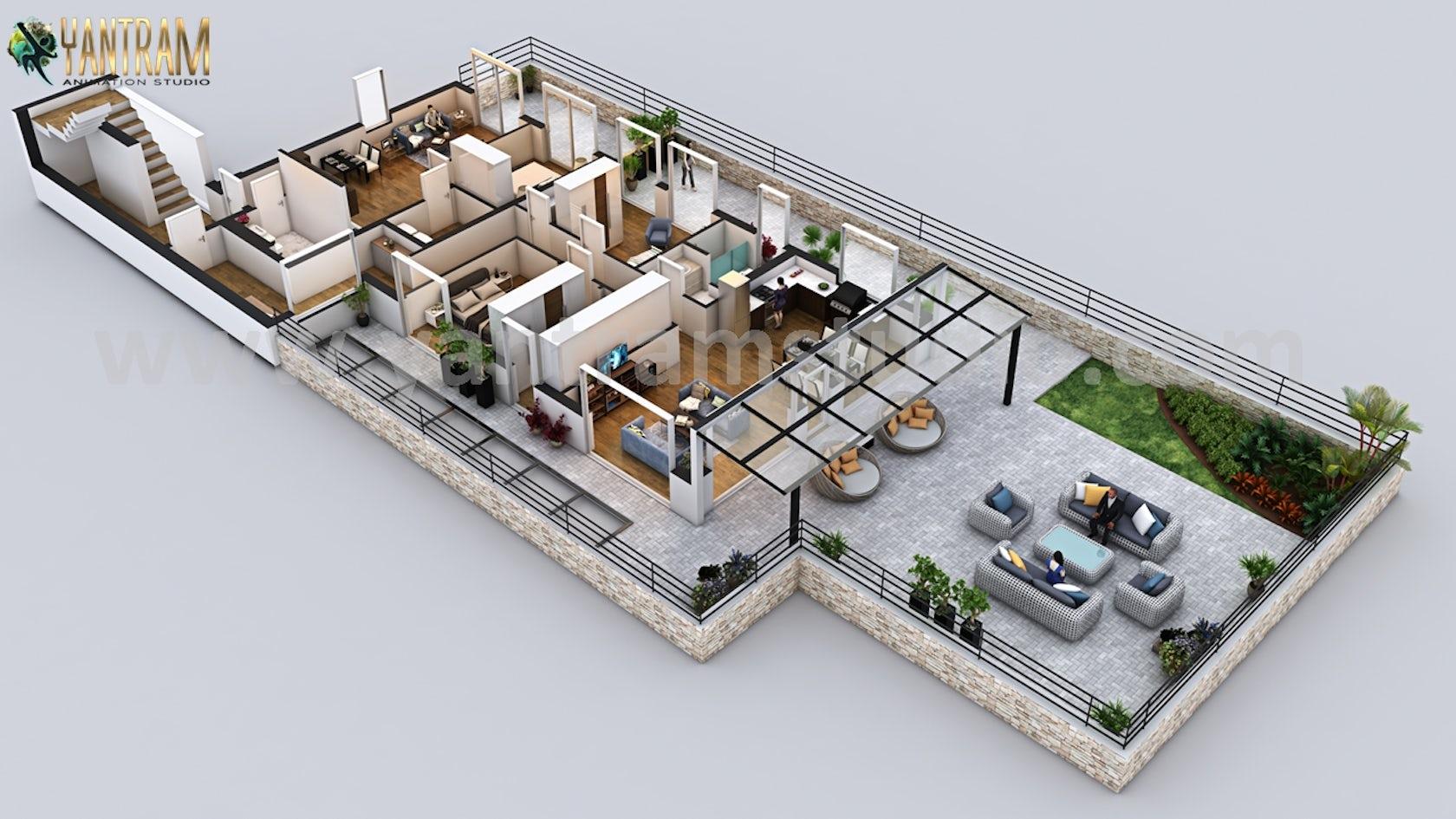 Penthouse 3d Home Floor Plan Design By Floor Plan Designer Architizer