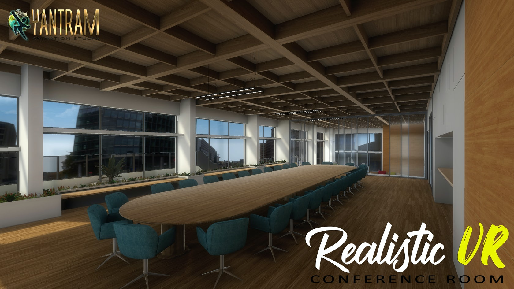 360 Degree Realistic Conference Room Virtual Reality