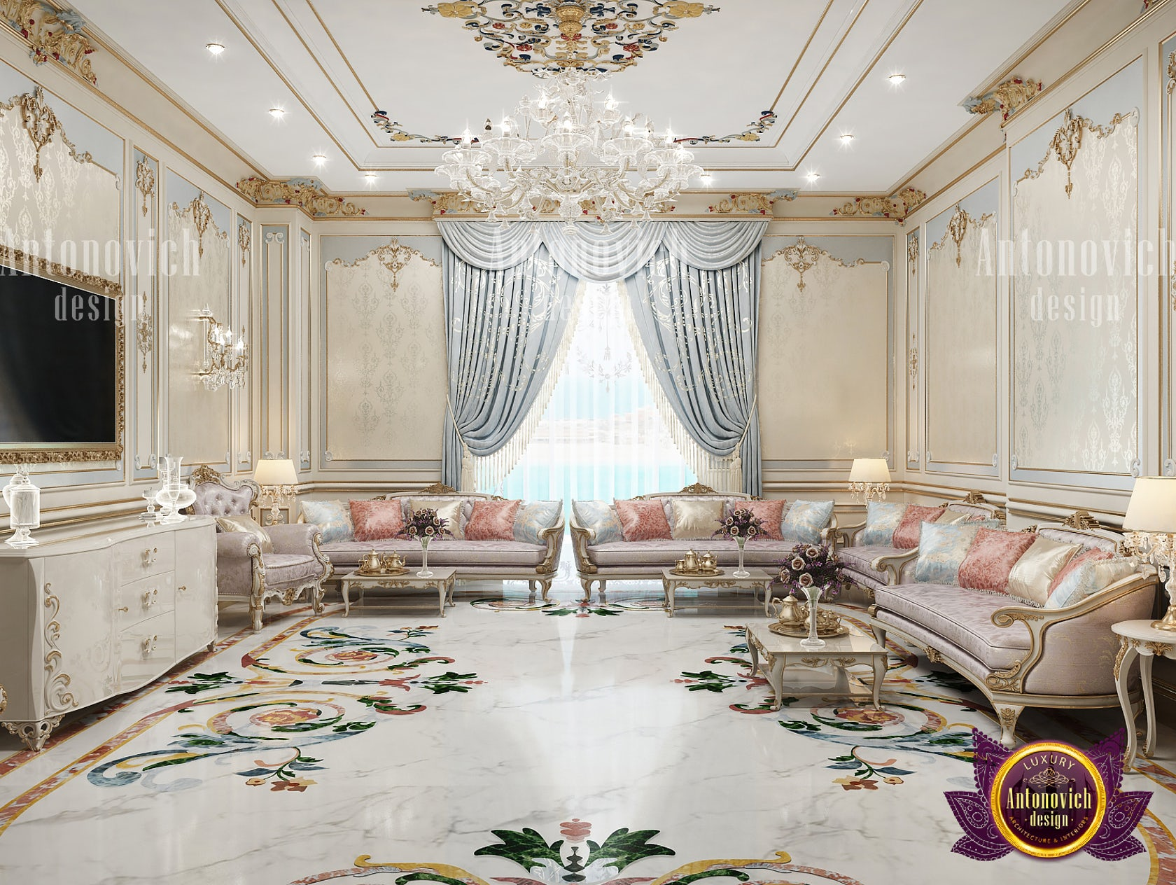 Neoclassical Interior For Living Room By Luxury Antonovich Design Architizer