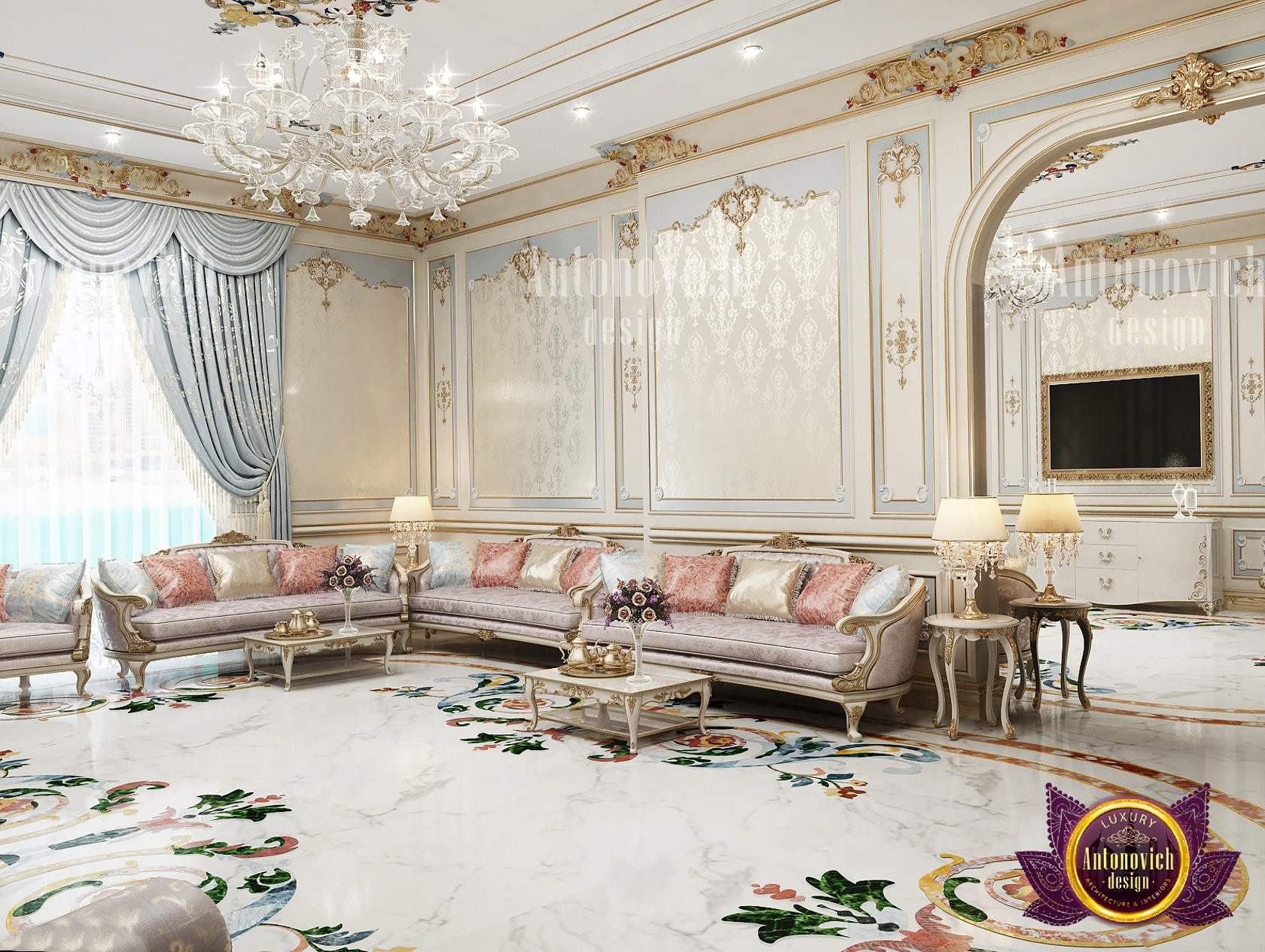 neoclassical interior for living room  architizer