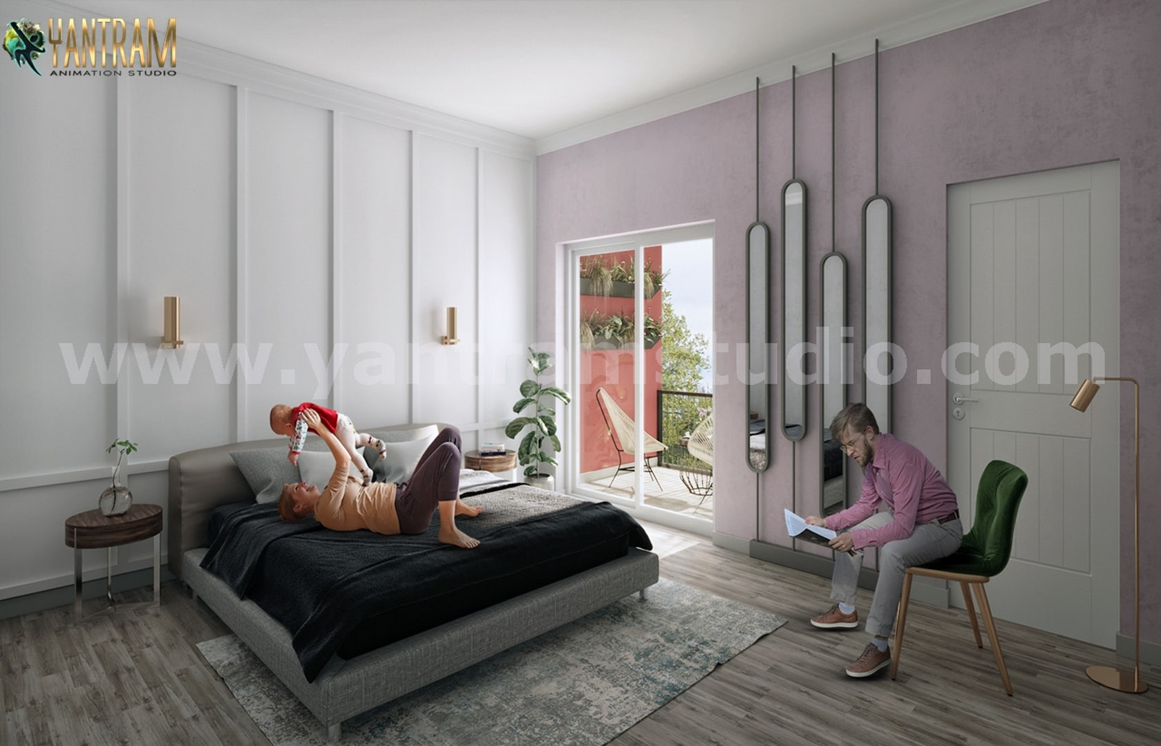 Modern Master Bedroom Ideas Of 3d Interior Rendering Services By Architectural Exterior Visualization Design Company Architizer
