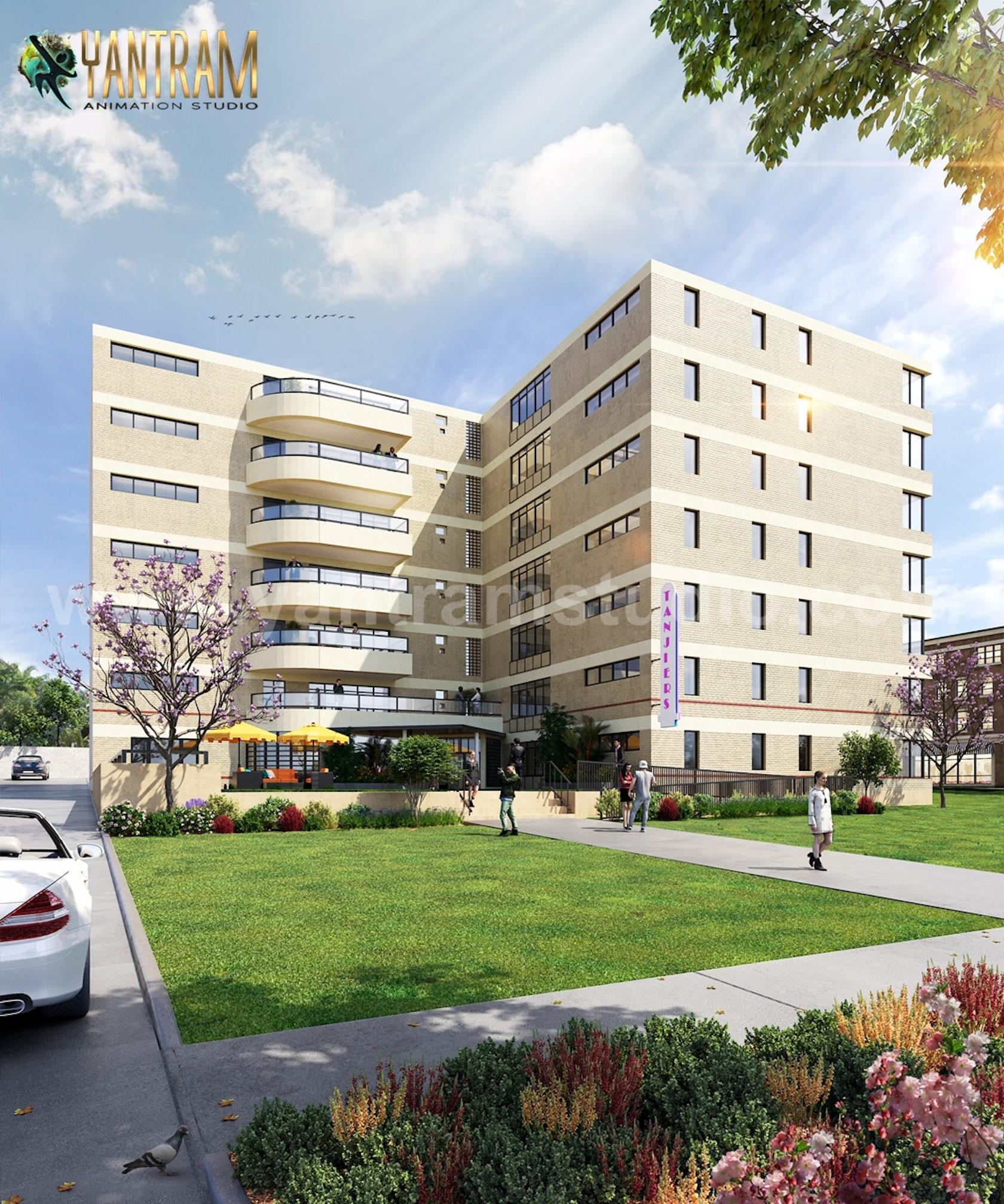 Modern Exterior Interior Apartment Building Design Ideas By Architectural Exterior Visualization Design Company Architizer