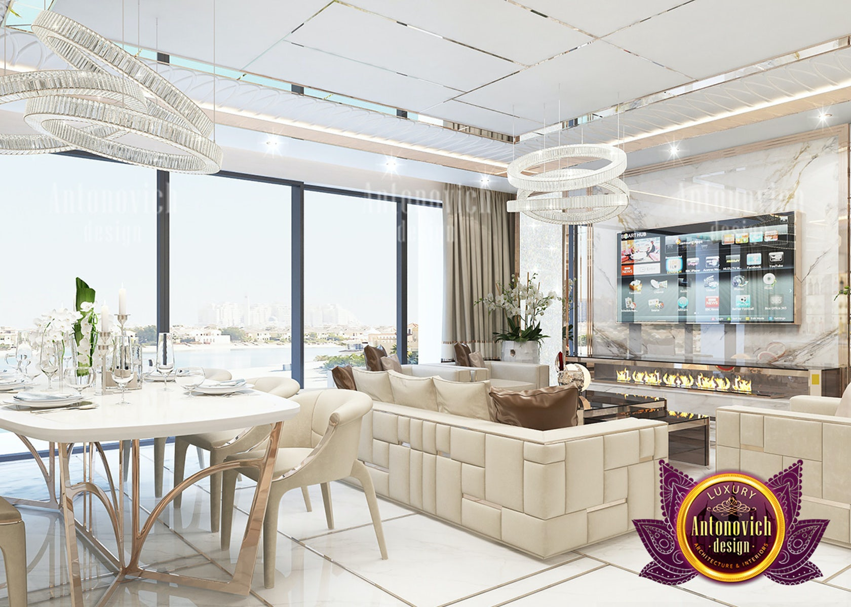 Magnificent Interior Design Solutions For Luxury Apartments By Luxury Antonovich Design Architizer