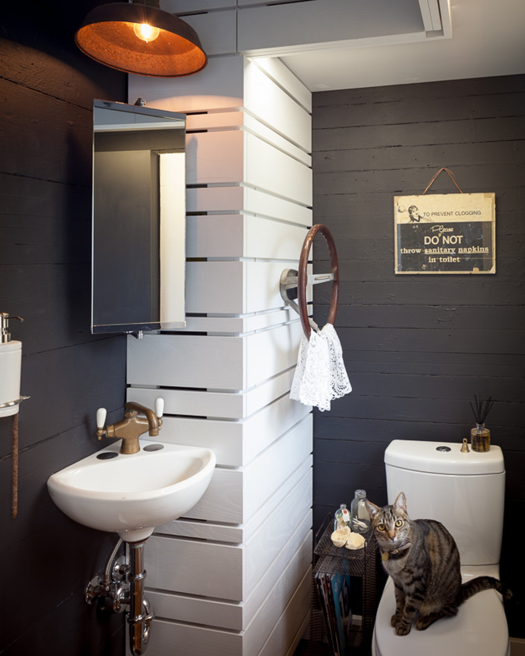 Kids Tub With Accent Wall: Jacob Powder Room Conversion