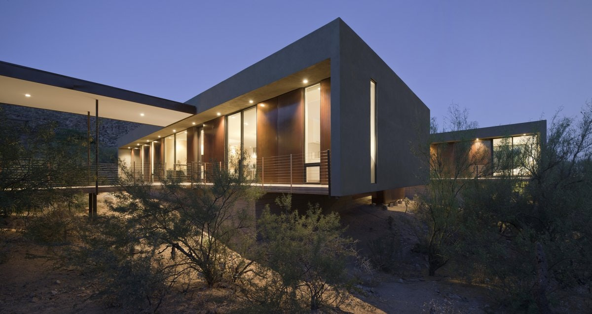 Perfect Desert House Residence By Circle West Architects, Paradise Valley, Arizona
