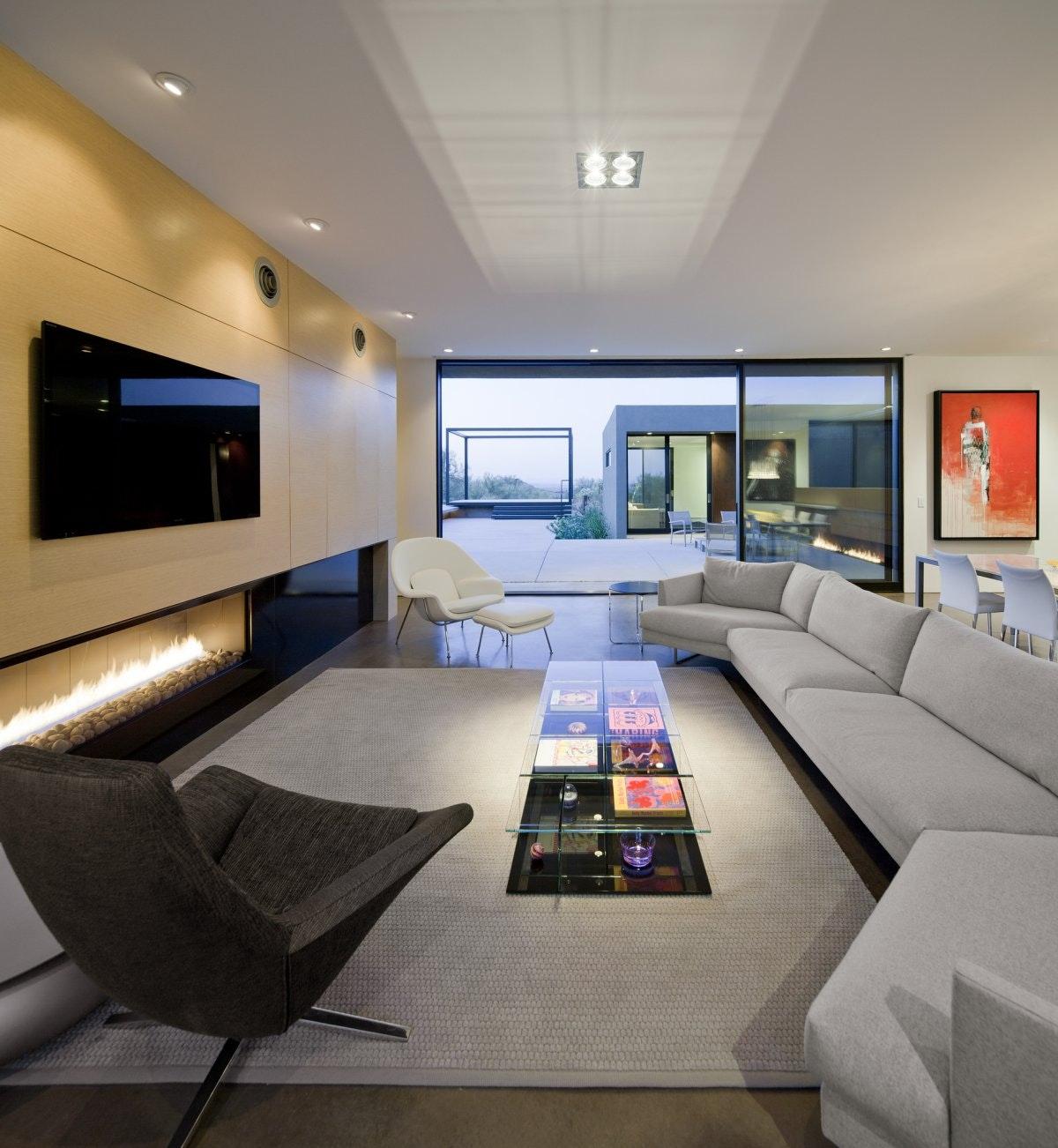 Desert House Residence By Circle West Architects, Paradise Valley, Arizona.  Levin Residence By Ibarra Rosano Design Architects, Marana, Arizona
