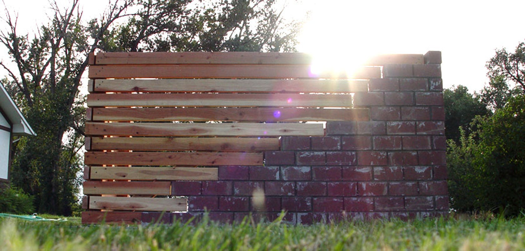 Brick + Wood Fence - Architizer