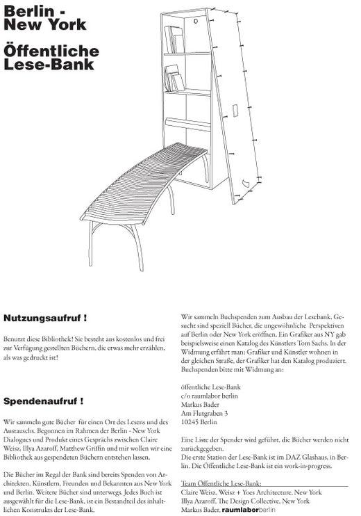 Public Reading Bench