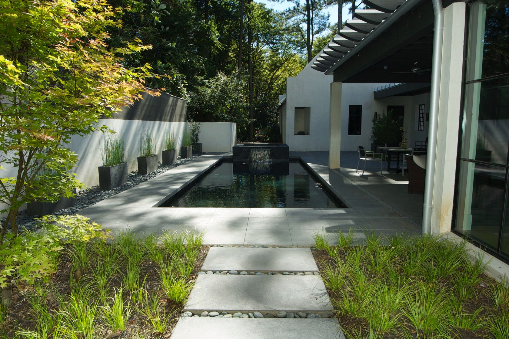 Zen pool garden architizer for Zen pool design