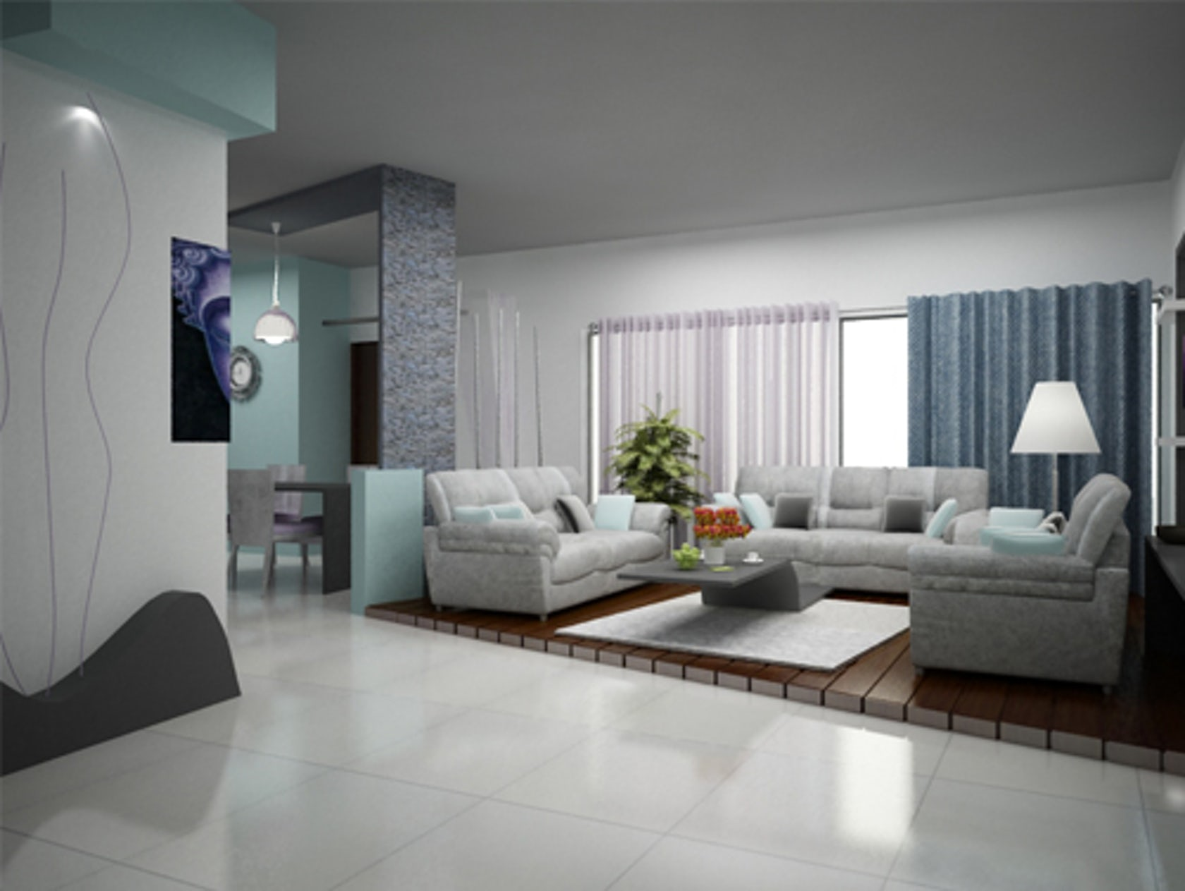 Jyothi s beautiful home interior design in bangalore - Interior design living room ideas modern ...
